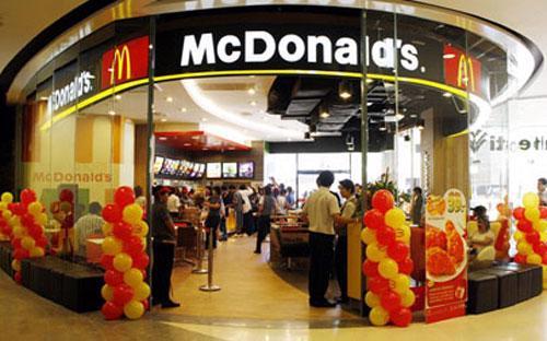 Một cửa tiệm McDonald's.<br>