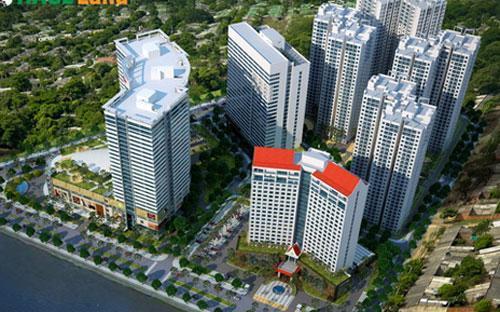 """Phối cảnh dự án khu phức hợp trung tâm thương mại, khách sạn, căn hộ cho thuê """"Hoang Anh Gia Lai Myanmar Centre""""."""