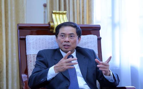 Thứ trưởng Thường trực Bộ Ngoại giao Việt Nam kiêm Chủ tịch Hội nghị các quan chức cao cấp APEC 2017, ông&nbsp; Bùi Thanh Sơn.<br>