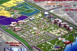 Phổi cảnh tổng thể quy hoạch khu đô thị mới Nam Hồng.