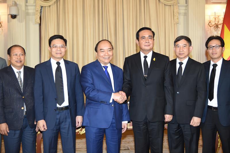 Thủ tướng Nguyễn Xuân Phúc hội đàm cùng Thủ tướng Thái Lan Prayuth Chan-o-ch, chiều 17/8. <br>