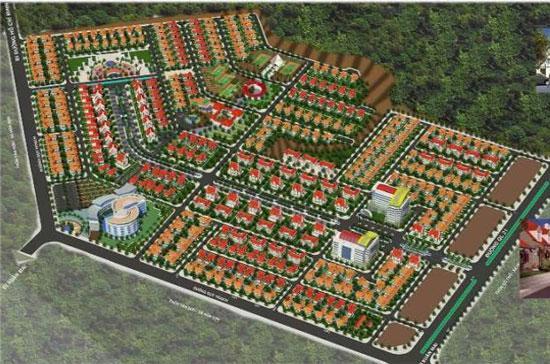 Phối cảnh tổng thể dự án Khu đô thị Hòa Sơn, Hòa Bình.