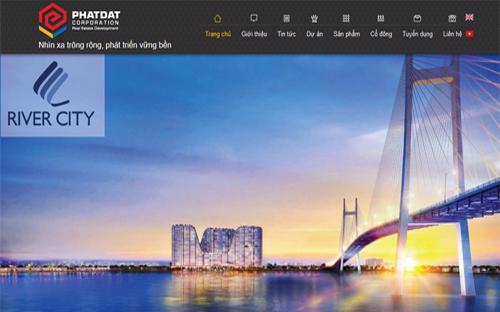 Trang web của Công ty Cổ phần Phát triển Bất động sản Phát Đạt.