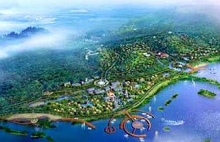 Phối cảnh khu kinh tế Vân Đồn, Quảng Ninh.
