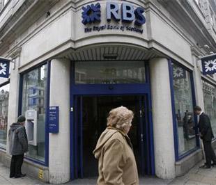 Trong ngày 19/1, Royal Bank of Scotland tuyên bố có thể thua lỗ tới 28 tỷ Bảng, tương đương 40,6 tỷ USD trong năm 2008, một con số thua lỗ có thể là kỷ lục trong lịch sử doanh nghiệp ở Anh - Ảnh: Reuters.