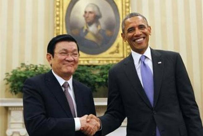 Hai nhà lãnh đạo đã quyết định xác lập quan hệ đối tác toàn diện Việt  Nam-Hoa Kỳ dựa trên các nguyên tắc tôn trọng Hiến chương Liên hiệp quốc,  luật pháp quốc tế, tôn trọng thể chế chính trị, độc lập, chủ quyền và  toàn vẹn lãnh thổ của nhau.