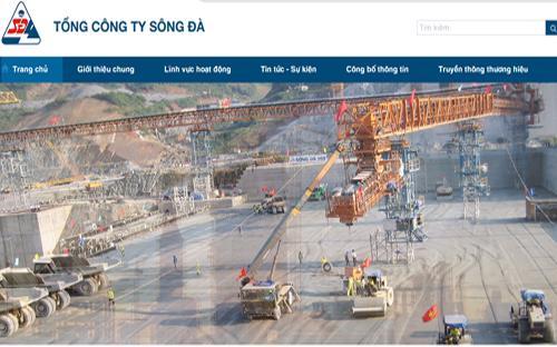 Website của Tổng công ty Sông Đà.
