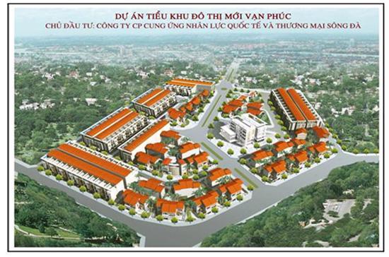 Phối cảnh tổng thể dự án Tiểu khu đô thị mới Vạn Phúc.