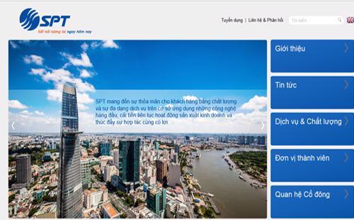 Trang web của Công ty Cổ phần Dịch vụ Bưu chính Viễn thông Sài Gòn (SPT.