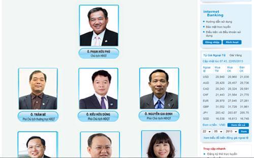 Các thành viên trong Hội đồng Quản trị của STB.<br>