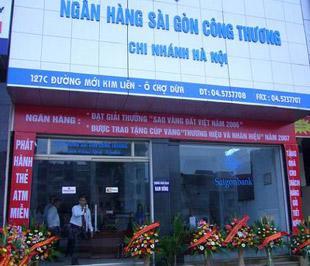 Chi nhánh Saigonbank tại Hà Nội.