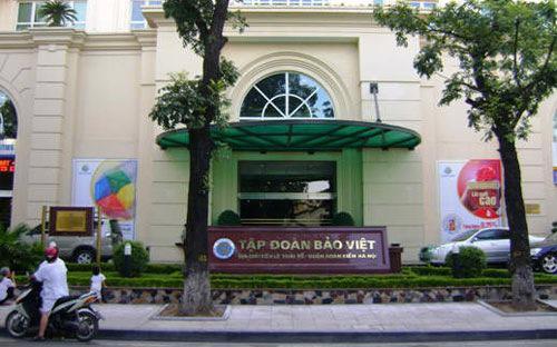 Bên ngoài trụ sở Tập đoàn Bảo Việt tại Hà Nội.