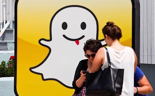 Lượng người dùng hoạt động hàng ngày của Snapchat là 166 triệu, chỉ tăng 8 triệu người so với quý trước - Ảnh: Bloomberg.