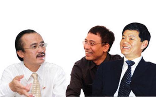 Từ trái sang: ông Võ Quốc Thắng (Đồng Tâm), ông Đỗ Anh Tú (Diana), ông Trần Bá Dương (Trường Hải).