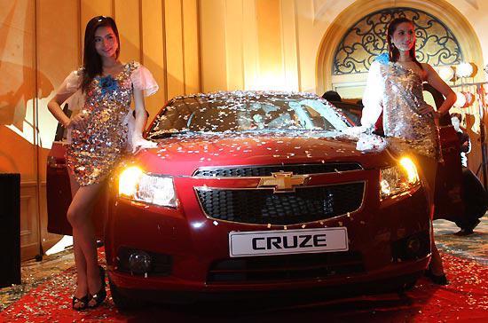 Mẫu xe ăn khách Chevrolet Cruze của GM đã có mặt ở Việt Nam - Ảnh: Đức Thọ.