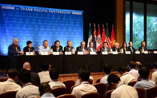 12 nước tham gia đã kết thúc đàm phán hiệp định TPP vào chiều tối 5/10.<br>