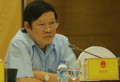 Thứ trưởng Bộ Y tế Nguyễn Viết Tiến trao đổi với báo chí chiều 30/8.<br>