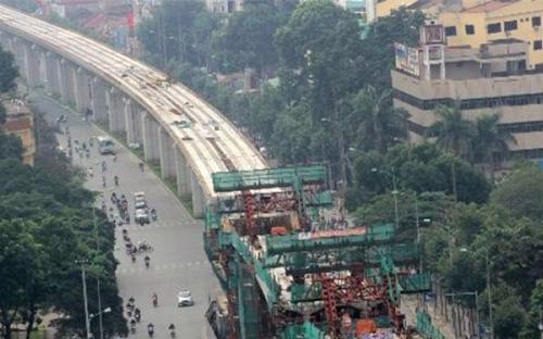 Dự án đường sắt Cát Linh - Hà Đông được đánh giá là gặp nhiều khó khăn.<br>