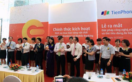 Lễ ra mắt dịch vụ eGold của TienPhong Bank.<br>