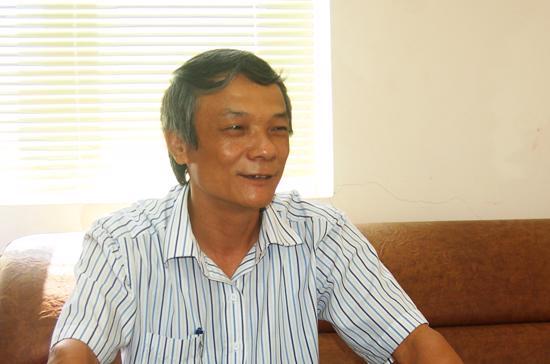 Ông Trần Đức Sơn, Tổng giám đốc Công ty Cổ phần Xi măng Đồng Bành - Ảnh: Anh Minh.