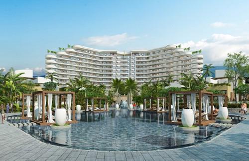 Dự án Kahuna Hồ Tràm Strip có tổng cộng 244 căn hộ, trong đó gồm tòa  tháp 12 tầng với 164 căn hộ, 36 biệt thự hai phòng ngủ và 8 biệt thự  hướng biển.