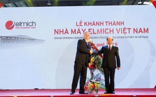 Lễ khánh thành nhà máy Elmich Việt Nam, tháng 8/2015.