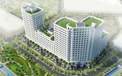 <div>Phối cảnh tổng thể khu căn hộ cao cấp Eco City.</div>