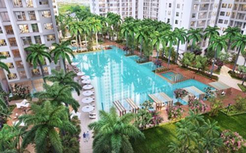 Hồ bơi 2.000 m2, điểm nhấn tạo đẳng cấp trong chuỗi tiện ích nội khu.