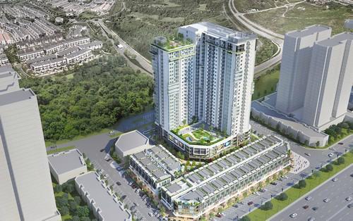 Phối cảnh Chung cư The TWO Residence và nhà phố thương mại The TWO Central.