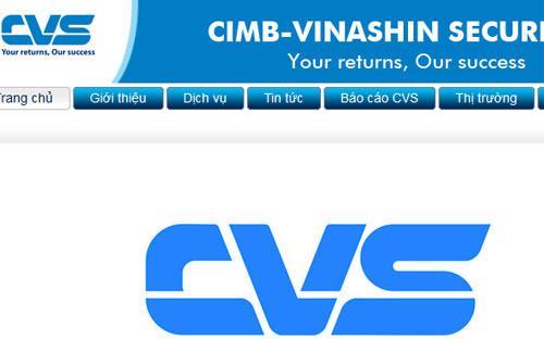 Một góc giao diện trang web của Chứng khoán CIMB - Vinashin.<br>