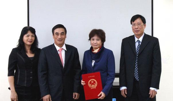 Lễ bổ nhiệm Hội đồng Quản trị Trung tâm Lưu ký Chứng khoán Việt Nam nhiệm kỳ 2012 - 2015.<br>
