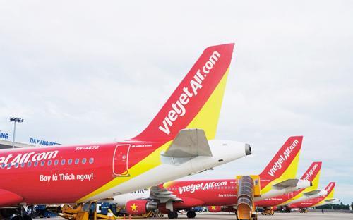 Đến cuối tháng 6/2017, Vietjet khai thác 73 đường bay trong nước và quốc  tế (gồm 38 đường bay nội địa và 35 đường bay quốc tế), tăng 37,7% so  với cùng kỳ năm trước và đạt 110,6% kế hoạch năm.