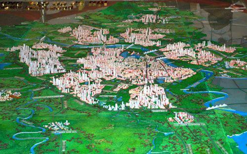 Tổng diện tích quy hoạch toàn Vùng Thủ đô khoảng 24.314,7 km2.