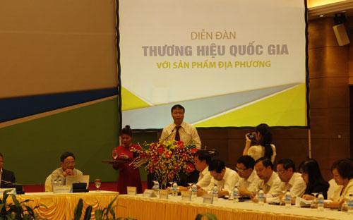 Thứ trưởng Đỗ Thắng Hải (Bộ Công Thương) phát biểu khai mạc diễn đàn.
