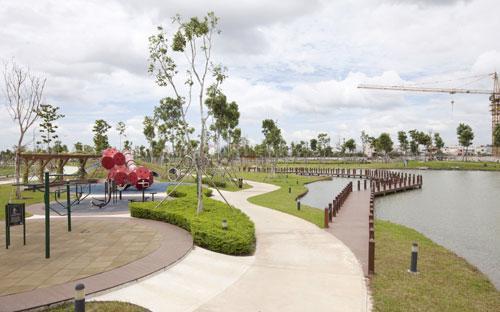 Khu phức hợp Thể dục thể thao đa năng ( phần ngầm) trên khuôn viên 5.43 hecta dành cho cư dân dự án Celadon City.<br>