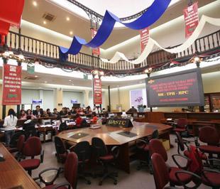 Sở Giao dịch Chứng khoán Hà Nội có tên quốc tế là Hanoi Stock Exchange (HNX), vốn điều lệ là 1.000 tỷ đồng - Ảnh: Việt Tuấn.