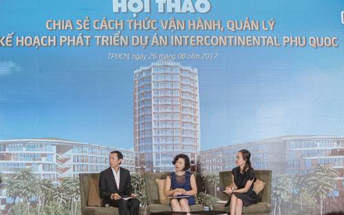 """""""Hội thảo chia sẻ cách thức vận hành, quản lý và kế hoạch phát triển dự án InterContinental Phu Quoc Long Beach Residences"""" đã được diễn ra thành công.<b><br></b>"""