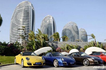 """Một góc dự án """"Dubai"""" của Trung Quốc trên đảo Hải Nam - Ảnh: AFP.<br>"""
