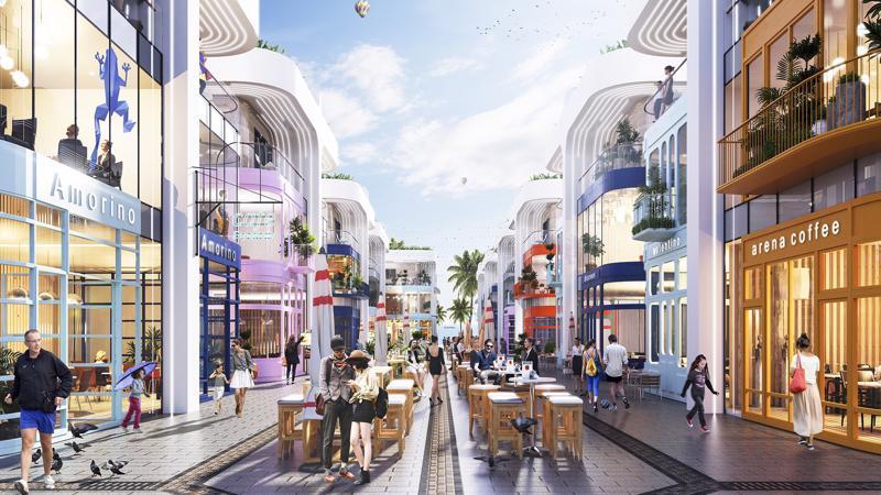 Shop villas The Arena có mức cam kết lợi nhuận lên đến 10%/năm.