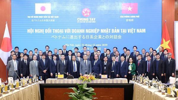 Các đại biểu tham dự Hội nghị đối thoại với doanh nghiệp Nhật Bản - Ảnh: VGP