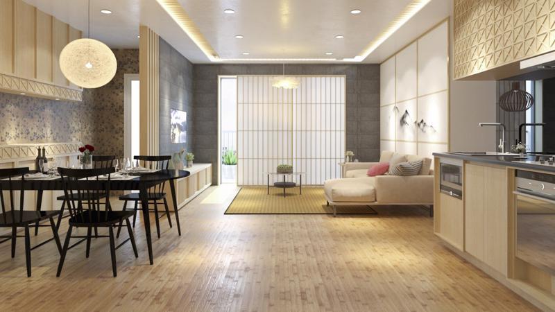 """""""Các căn hộ cao cấp The Minato Residence thiết kế tinh tế, sang trọng, tạo cho cư dân không gian sống riêng tư nhờ tầm nhìn hướng sông rộng mở""""."""