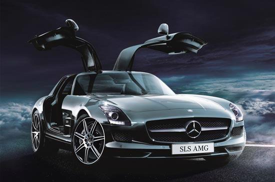 Siêu phẩm tốc độ SLS AMG 2010 của Mercedes-Benz.
