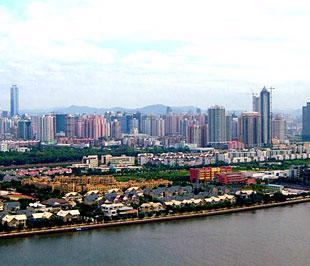 Một góc thành phố Quảng Đông, Trung Quốc.