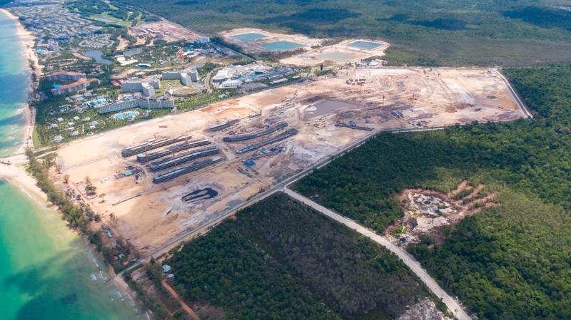 Hình ảnh thực tế dự án Grand World Phú Quốc tính đến tháng 5/2019.