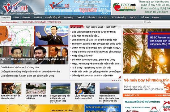 Báo VietNamNet đã bị tấn công từ chối dịch vụ hơn một tháng qua - Ảnh chụp màn hình: Phúc Minh.
