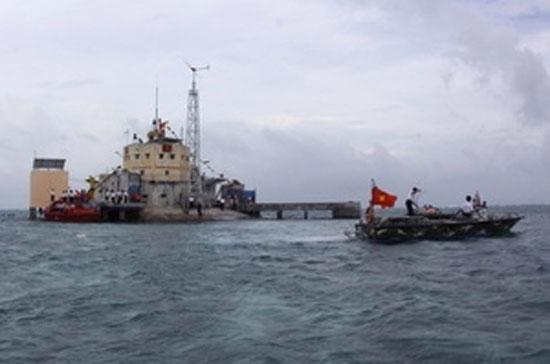 Đảo Đá Lớn thuộc quần đảo Trường Sa - Ảnh: TTXVN.
