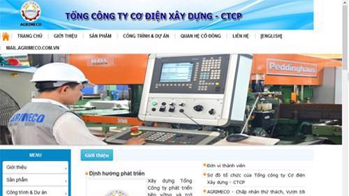 Trang web của Tổng công ty Cơ điện xây dựng - CTCP – Agrimeco (Hà Nội).