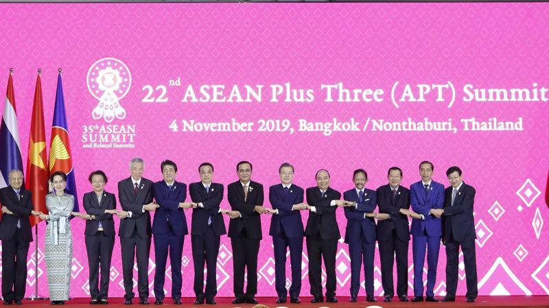 Các nhà lãnh đạo dự Hội nghị ASEAN+3 - Ảnh: VGP
