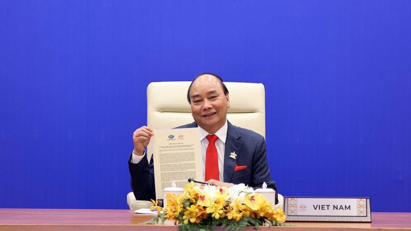 Thủ tướng Nguyễn Xuân Phúc tham dự hội nghị cấp cao giữa lãnh đạo các nền kinh tế APEC ngày 20/11 - Ảnh: Bộ Ngoại giao