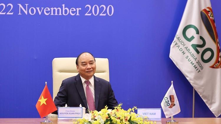 Thủ tướng Nguyễn Xuân Phúc tham dự Hội nghị thượng đỉnh G20 trực tuyến ngày 22/11 từ Hà Nội.